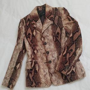 Javier Simorra brown reptile print blazer